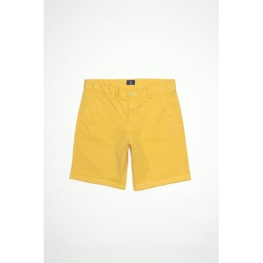 Mens Regular Sunbleached Shorts in Daylily Yellow