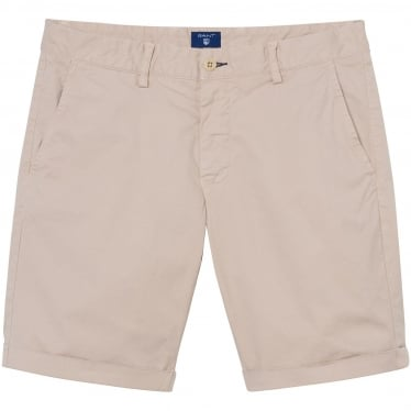Mens Regular Sunbleached Shorts in Dry Sand