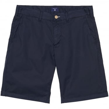 Mens Regular Sunbleached Shorts in Evening Blue