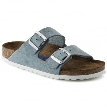 Womens Arizona Soft Footbed in Light Blue Suede Narrow Fit