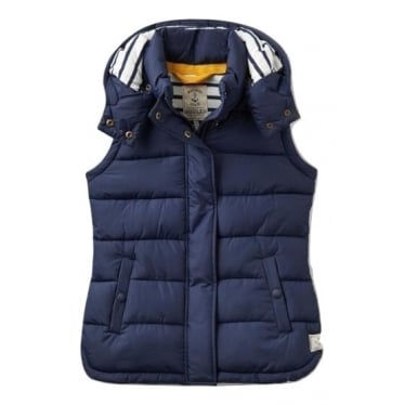 Womens Wavely Padded Gilet in French Navy
