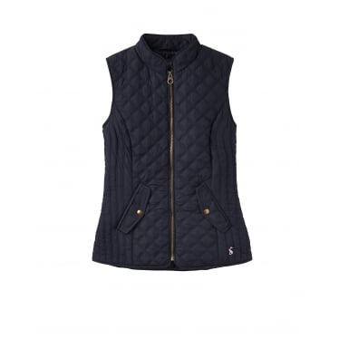 Womens Minx Quilted Gilet in Marine Navy