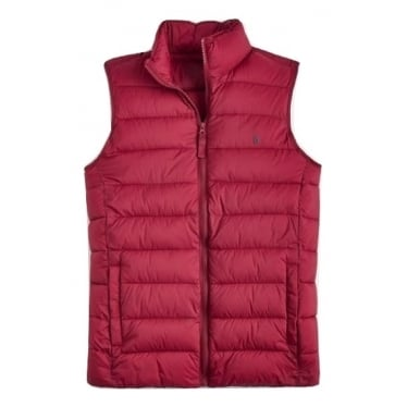 Joules Mens Go To Gilet in Rhubarb
