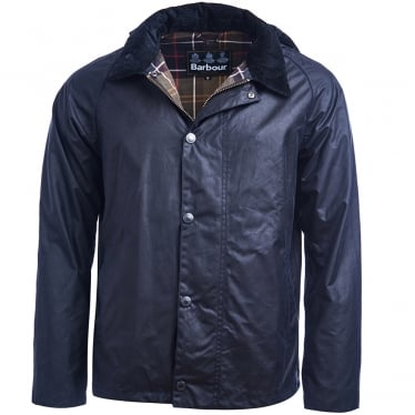 Barbour Mens Heskin Wax Jacket in Navy