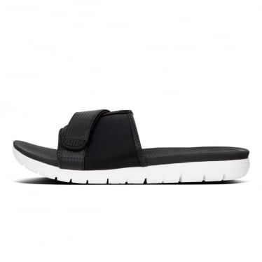 Womens Neoflex Slide Sandals in Black Mix