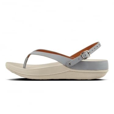 Womens Flip Leather Sandals in Dove Blue