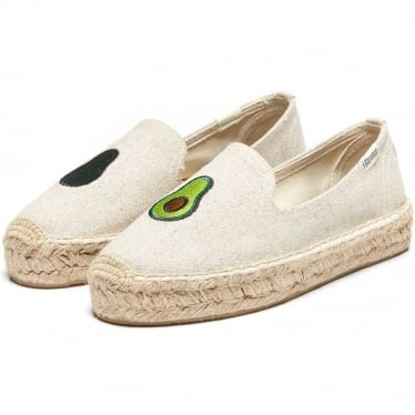 Womens Avocado Platform Smoking Slipper in Sand