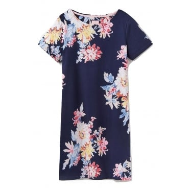 Womens Rivieraprint Dress in Navy Whitstable Floral