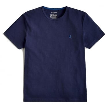 Mens Laundered Jersey Tee in French Navy