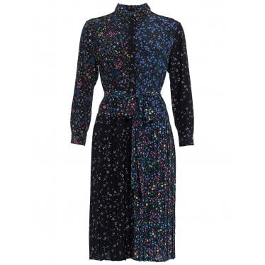 c3315050bde Womens Aubine Pleated Floral Midi Shirt Dress in Black Multi · French  Connection ...