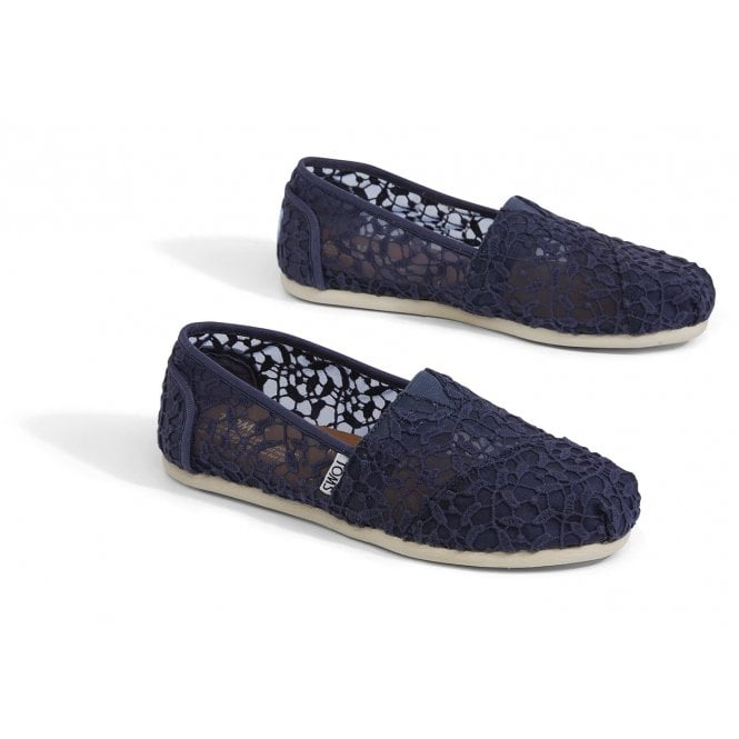 Toms Womens Cadet Blue Lace Leaves