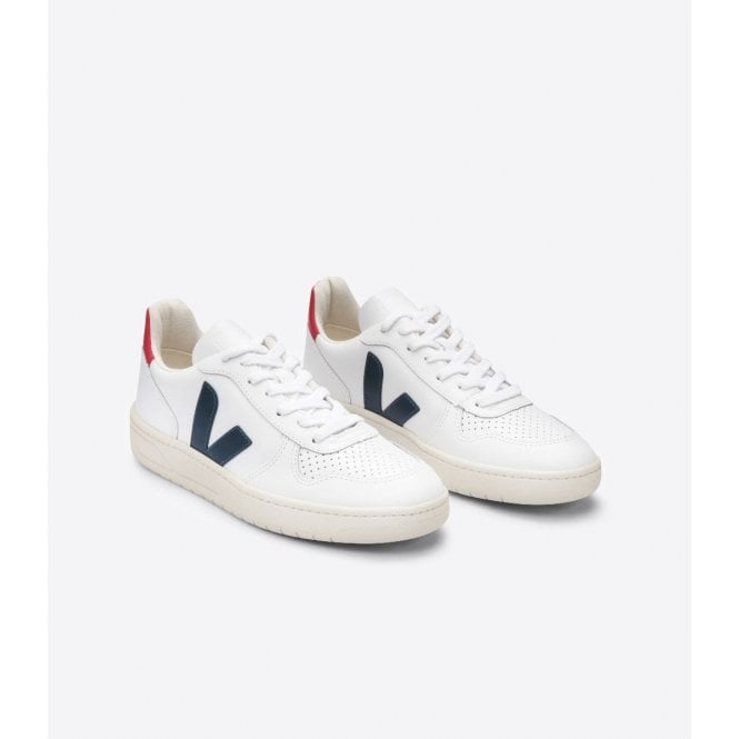 tubo Correa Foto  Veja Mens V10 Leather Trainers in Extra White Nautico Pekin|Parkinsons  Lifestyle