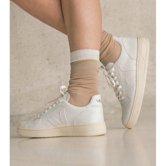 Veja V10 Womens Leather Extra White
