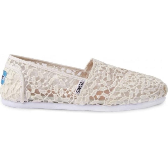 Toms Womens Lace Leaves Classics in